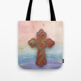Celtic Cross Watercolor Tote Bag