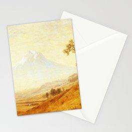 Mount Hood 1863 By Albert Bierstadt | Reproduction Painting Stationery Cards
