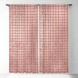 Beautiful Modern Rose Gold Square Pattern Blackout Curtain