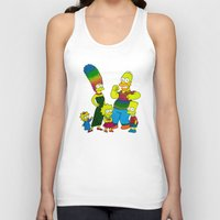 simpsons Tank Tops featuring The Simpsons by Luna Portnoi