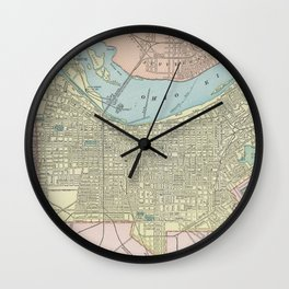 Vintage Map of Louisville KY (1901) Wall Clock