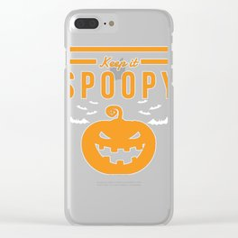 Keep it Spoopy Halloween print Funny Costume product Clear iPhone Case