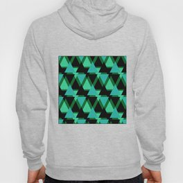 Abstract pattern . The green triangles . Hoody