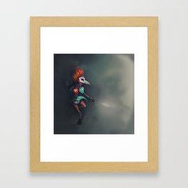 Bird of ill omen Framed Art Print