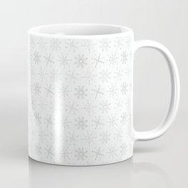 White Festive Christmas Snowflake Stripes Seamless Frost Coffee Mug