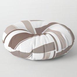 Geometric Color Block Rectangles - Brown and Beige Floor Pillow