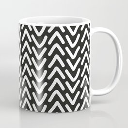 chevron white on black Coffee Mug