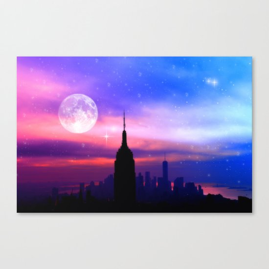 under the moon New York Canvas Print