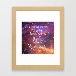 Strains of Silence by Bethany Kaczmarek | Quote 1 Framed Art Print