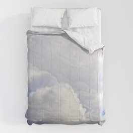 White And Grey Clouds In The Sky Comforters