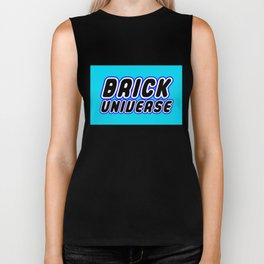 BRICK UNIVERSE in Brick Font Logo Design [Alternate Colors] by Chillee Wilson Biker Tank