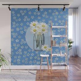 White Daisies Wall Mural