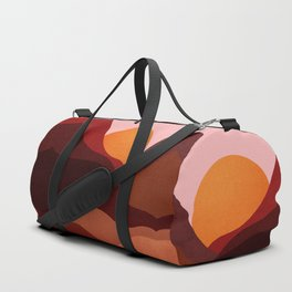 Abstraction_Mountains_SUNSET_Minimalism Duffle Bag