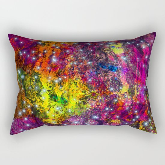 stars in the colorful wall Rectangular Pillow