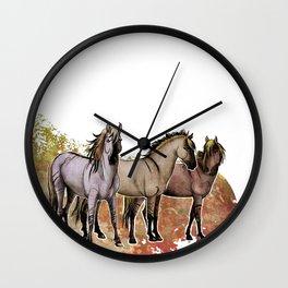 Stripped Horses- Sorraia Wall Clock