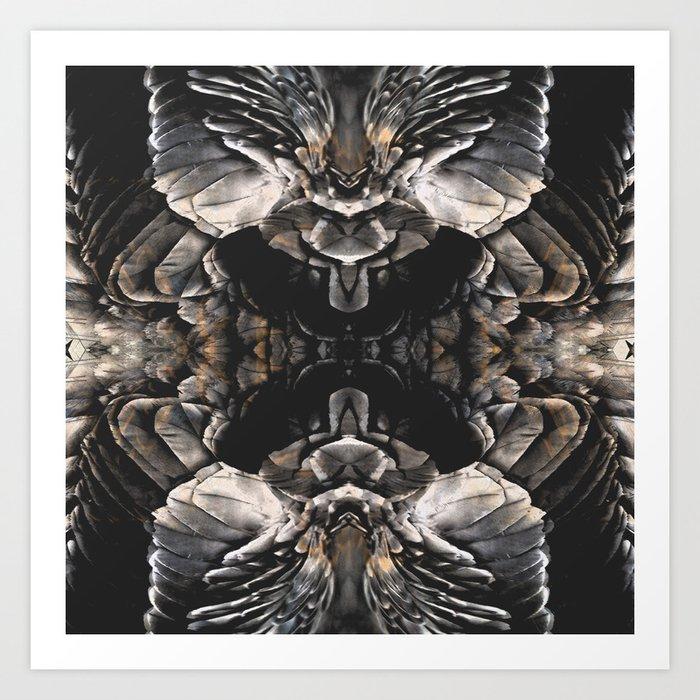 Dark Feathers Art Print