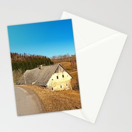 Traditional abandoned farmhouse | architectural photography Stationery Cards