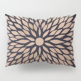 Rose Gold Flower Pillow Sham