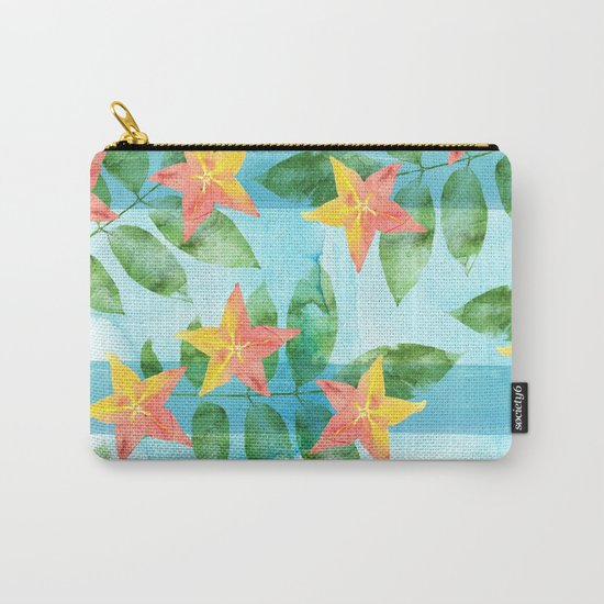 Exotic Star Fruit Pattern Carry-All Pouch