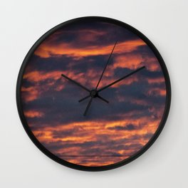 Morning Sky | Clouds Wall Clock