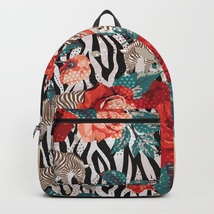 Pattern flowers-animals Backpack