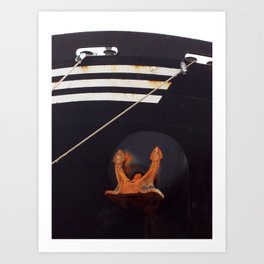 Bow and Anchor Art Print