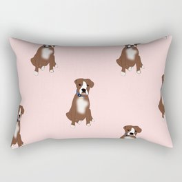 Boxer Dogs are BFFs Rectangular Pillow