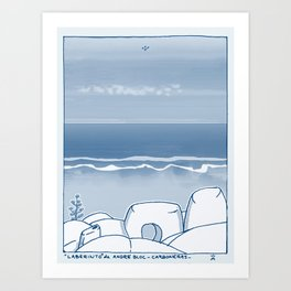 In Paradise Labyrinth Andre Bloc Art Print