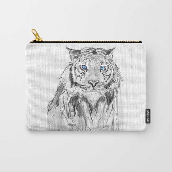 Tiger, black and white Carry-All Pouch
