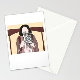 maybe this time [lady happy] Stationery Cards