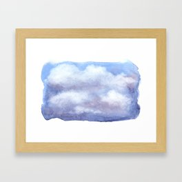 Clouds Watercolor  Framed Art Print