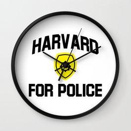 harvard for police Wall Clock