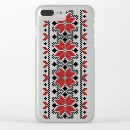 Ukrainian Pattern 2 Clear iPhone Case