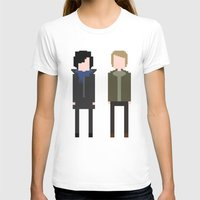 8 bit T-shirts featuring Sherlock 8-Bit by Raquel Segal