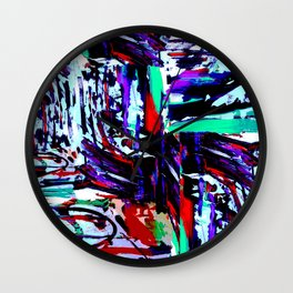 Stress Painting Wall Clock
