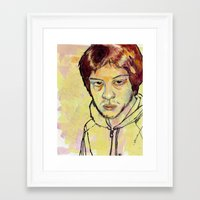 danny ivan Framed Art Prints featuring Ivan by dvhstudios