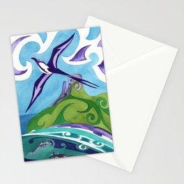 Polynesian frigate bird and hammerhead sharks Stationery Cards