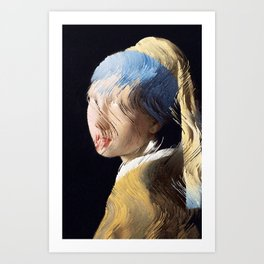 Girl With a Sorted Earring Art Print