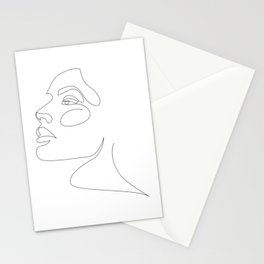 airy-fairy - one line beauty Stationery Cards