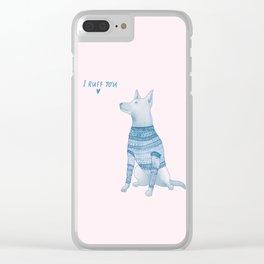 I Ruff You Clear iPhone Case