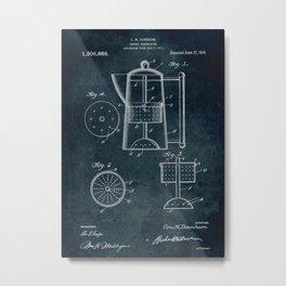 1917 - Coffee percolator patent art Metal Print