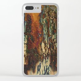 Woodsie Woo by Sherri Of Palm Springs-abstract Clear iPhone Case