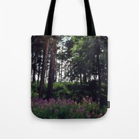 finland Tote Bags featuring Porvoo- Finland by Cynthia del Rio
