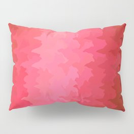 pink wave Pillow Sham