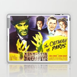 The Catman of Paris, Vintage Horror Movie, Theater Poster Laptop & iPad Skin