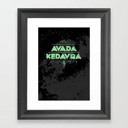 Harry Potter Curses: Avada Kedavra Framed Art Print