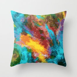 Color spots pattern Throw Pillow