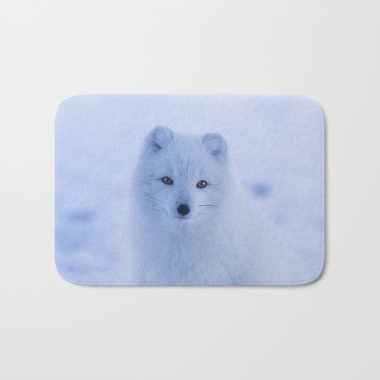 White Snow Fox Softness Bath Mat
