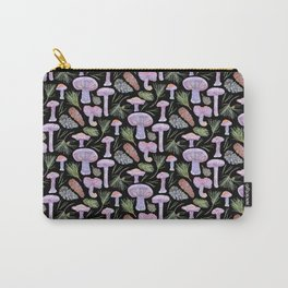 Wood Blewits and Pine Dark Pattern Carry-All Pouch
