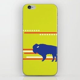 Bison striped iPhone Skin